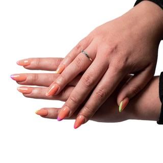 FRENCH COLORÉE 🌈 💅🏼 Gel première pose chablon + French - 60€  #nails #nailart #nailsofinstagram #manicure #beauty #gelnails #nailsonfleek #nailstagram #nailsoftheday #instanails #nailstyle #inspire #naildesign #nailsart #nailome